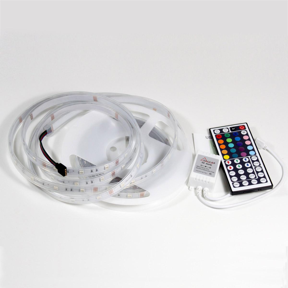 flexible led strip rgb wei warmwei blau smd5050 led band streifen leisten ebay. Black Bedroom Furniture Sets. Home Design Ideas