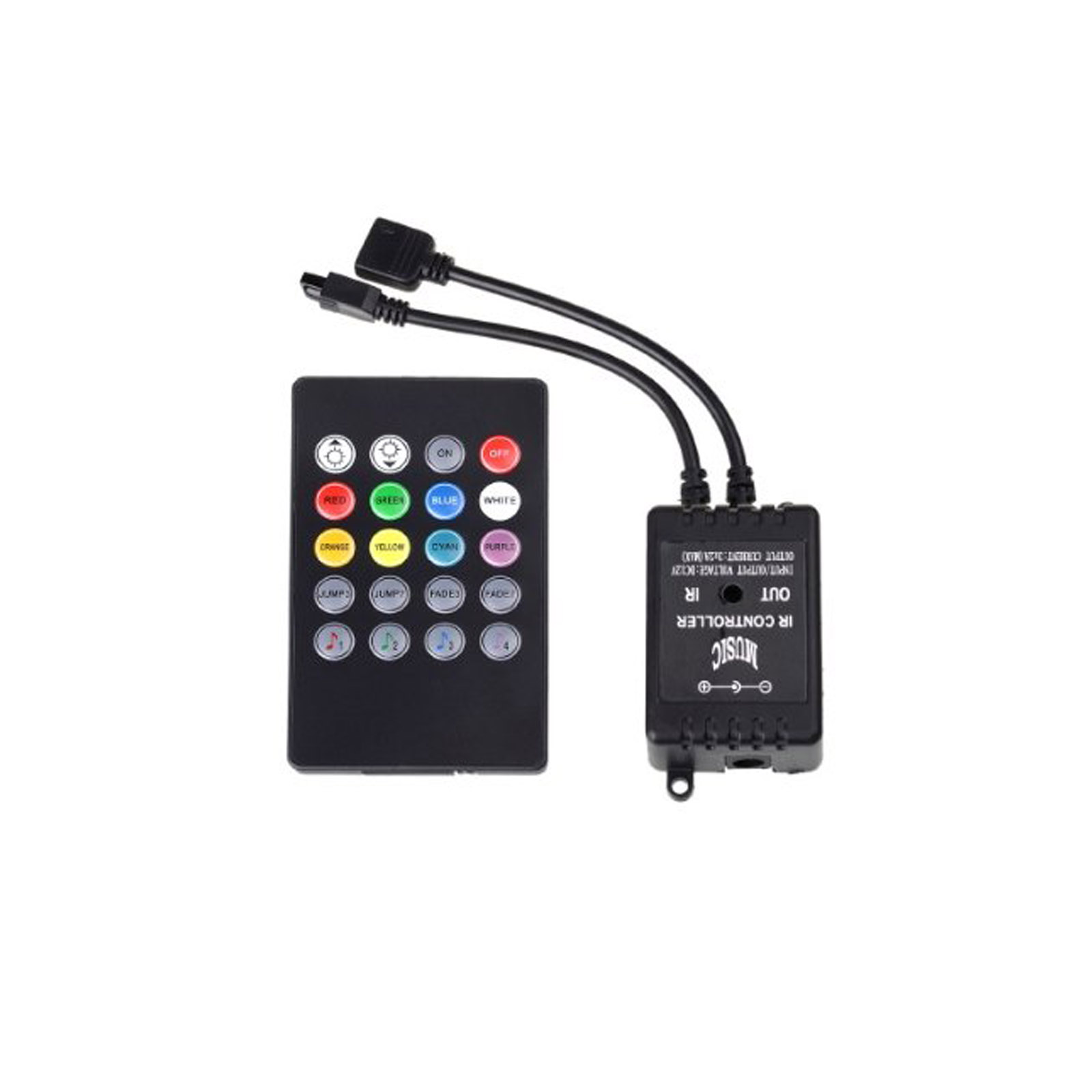 led musik controller dimmer fernbedienung f r rgb led strip streifen 12v remote ebay. Black Bedroom Furniture Sets. Home Design Ideas