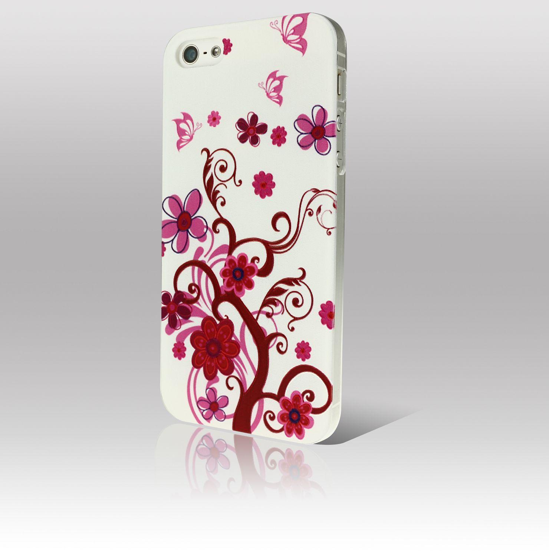 buy one get one 0 5mm blumen h lle f r iphone 5s 5 4s 4. Black Bedroom Furniture Sets. Home Design Ideas