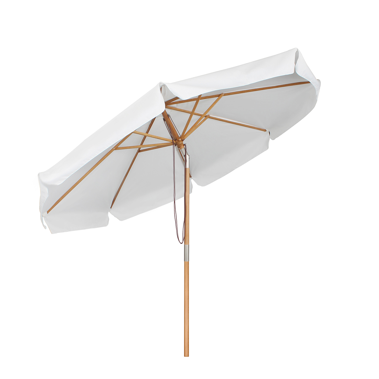 3m sonnenschirm sonnenschutz holz ampelschirm strandschirm gartenschirm wei ebay. Black Bedroom Furniture Sets. Home Design Ideas